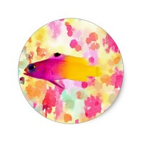 Fish Classic Round Sticker