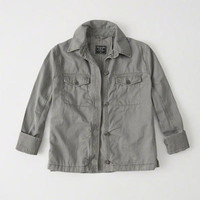 Womens Swing Twill Shirt Jacket | Womens Coats & Jackets | Abercrombie.com