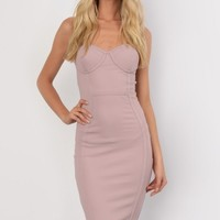 Keisha Dusky Pink Mermaid Fishtail Bustier Bodycon Dress - Womens Party Dresses | South Avenue
