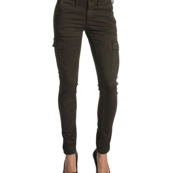 Ag Adriano Goldschmied Sateen Slim Cargo Pant Fatigue Green Sz 30 Nwt