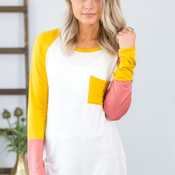Anywhere You Go Color Block Top