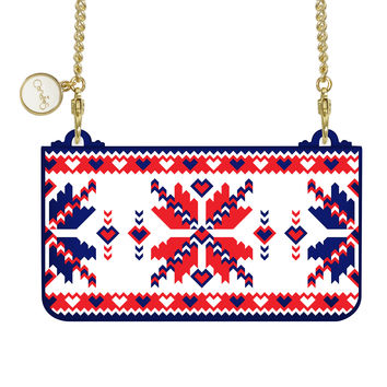 Wristlet Clutch iPhone 6 - Snowflake Sonata