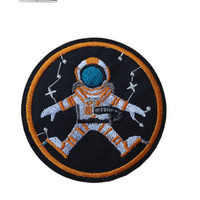 Astronaut Iron / Sew On Embroidered Patch Nasa space explorer Badge Embroidery | eBay