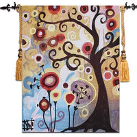 free shipping 1pcs 110x140cm or 68*90cm Porch and corridor tree of life, Abstract tree in June wall hangings tapestry