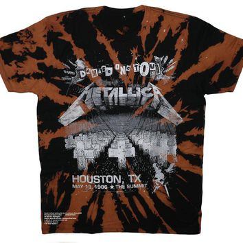 Metallica Texas Tour Vintage Distressed Band Tee