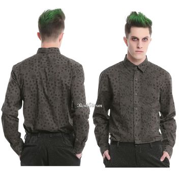 Licensed cool Suicide Squad DC  The Joker Woven Tuxedo Button Up Long Sleeve Shirt S-L