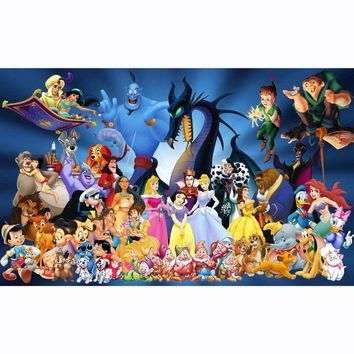 """HD Canvas Painted Oil Painting Wall decor disney-character snow White10""""x16"""""""