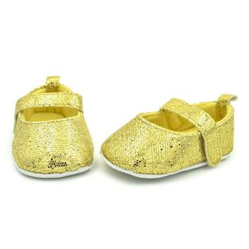 Non-slip Baby First Walkers Fashion Cotton Soft Sole Sequins Baby Girl Crib Shoes Spring Newborn Infant Sneakers Baby Girl Shoes