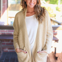 Calgary Weekend Cardigan - Light Camel