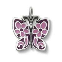 Purple Enamel Butterfly Charm | James Avery