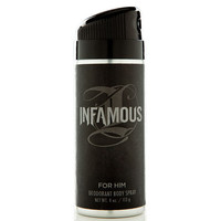 Infamous For Him Body Spray Black One Size For Men 22755710001