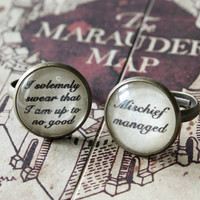 I solemnly swear that I am up to no good ring or mischief managed ring