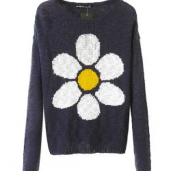 Long Sleeves Sunflower Sweater