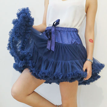 Adult women tutu skirt  extra fluffy pettiskirt petticoat for  Women Teenage Party dance skirt costume 15 colors