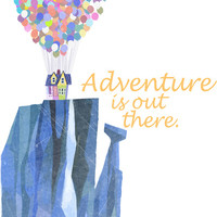 adventure is out there.. cursive Stretched Canvas by studiomarshallarts