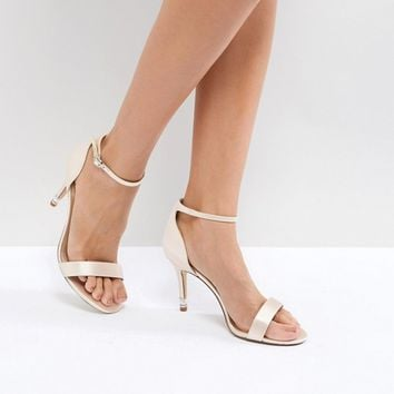 Dune London Bridal Exclusive Wide Fit Two Part Heeled Shoes at asos.com