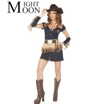 MOONIGHT Sexy Cowboy Costume Cosplay Costumes Halloween Christmas Costume For Women Femininas Macchar Cosplay Catalogue