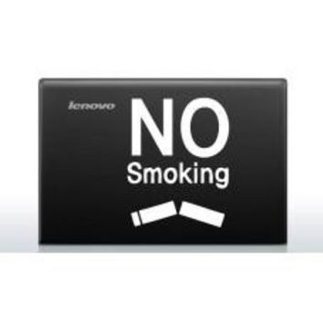No Smoking (Style # 3) Automobile Car Window Decal Tablet PC Sticker Automobile Window Wall Laptop Notebook Etc. Any Smooth Surface