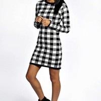 Robin Check Knitted Bodycon Jumper Dress