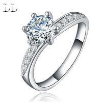 hot sale fashion jewelry white gold plated cubic zirconia diamond jewelry vintage bague ring for women Bague bijoux dd061