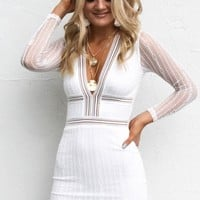 Before Tomorrow White Mesh Mini Dress