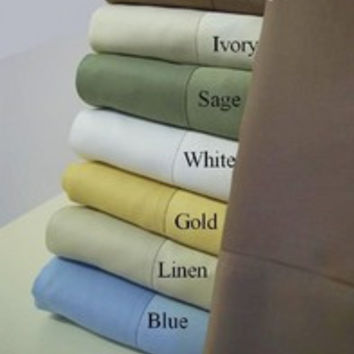 "16"" Deep Pocket- 5 SIZES-1000TC Solid Egyptian Cotton Bed Sheet Sets Color: Sage Size: King"