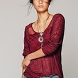 Free People Womens FP New Romantics Gigi Tee