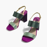 Contrasting high-heel sandals - All | Stradivarius United Kingdom