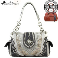 Montana West MW130G-8085 Concho Concealed Carry Handbag