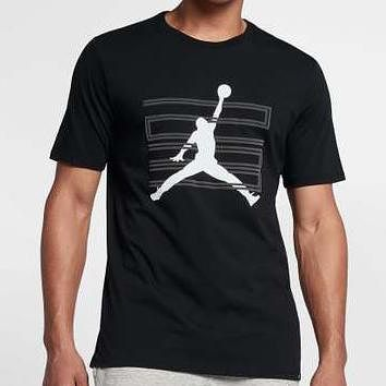 Jordan Men Fashion Casual Sports Shirt Top Tee