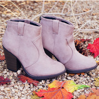 Rebel Booties - Taupe