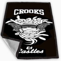Crooks Castles Blanket for Kids Blanket, Fleece Blanket Cute and Awesome Blanket for your bedding, Blanket fleece **