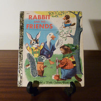 """Vintage 1980 Book """"Rabbit and His Friends"""" - A little Golden Book / Retro kid's book / Golden Press Library / By Richard Scarry"""