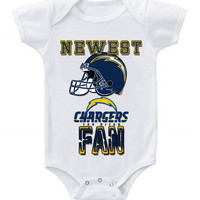 NEW Football Baby Bodysuits Creeper NFL San Diego Chargers #2