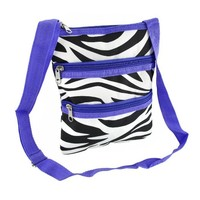 World Traveler Purple Zebra Small Hipster Cross-Body Bag