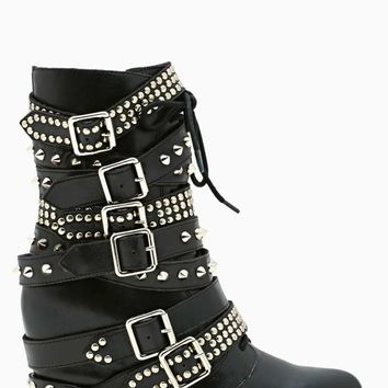 Jeffrey Campbell Draco Strapped Stud Boot