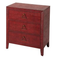 Romy Red Raffia Console Chest