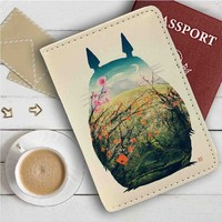 Totoro Leather Passport Wallet Case Cover