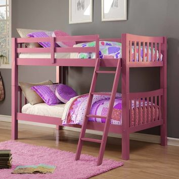 Nora Pink Girls Bunk Bed