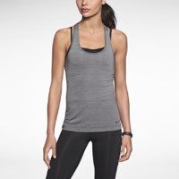 Nike Two-in-One Racerback Women's Tank Top - Black Heather