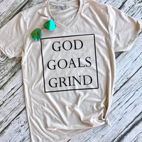 God Goals Grind Graphic Tee (S-XL)