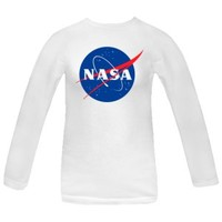 NASA Logo Women's White Long Sleeve T-Shirt | INKtastic