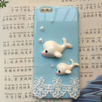 dolphin dolphin, animal case,protective case for iPhone 6 iPhone 6 plus iPhone5/s, summer gift hard case,best friends gift