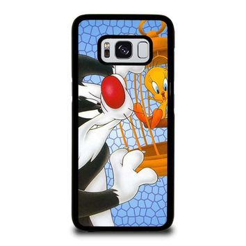 sylvester and tweety looney tunes samsung galaxy s3 s4 s5 s6 s7 edge s8 plus note 3 4 5 8  number 1