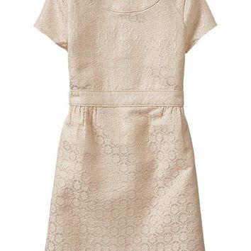 Gap Girls Factory Textured Floral Shift Dress