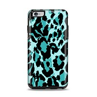 The Vector Hot Turquoise Cheetah Print Apple iPhone 6 Plus Otterbox Symmetry Case Skin Set
