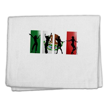 "Mexican Flag - Dancing Silhouettes 11""x18"" Dish Fingertip Towel by TooLoud"