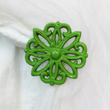 Curtain Holdback, Set of 2, Curtain Tie back, Tiebacks, Brilliant Green
