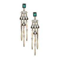 Premium Tassel Drop Earrings - Blue