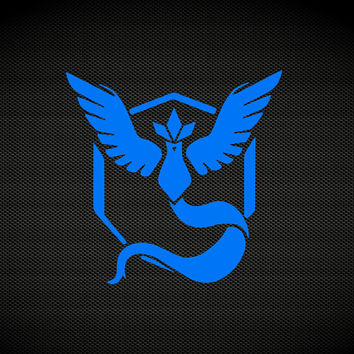 Team Instinct | Team Mystic | Team Valor | Pokemon Go Team Decal | Pokemon Go Club Teams Gyms | Pokemon Blue Yellow Red Zapdos Decal | 374
